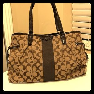 Authentic coach bag  brown classic logo